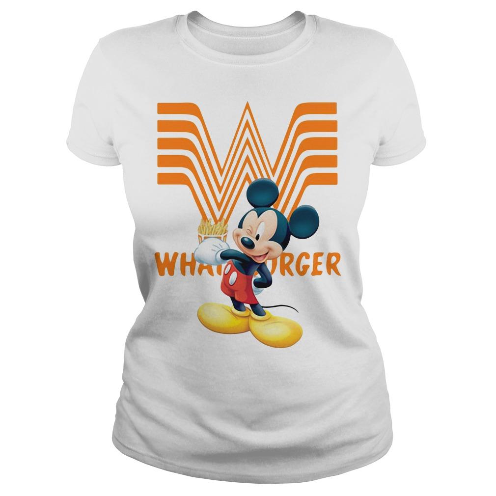 Mickey Mouse Whataburger Ladies Tee