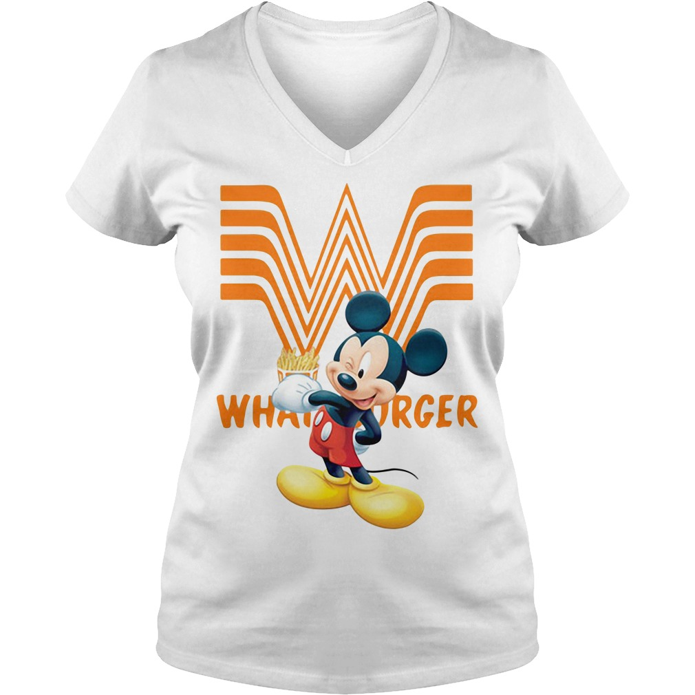 Mickey Mouse Whataburger V-neck T-shirt