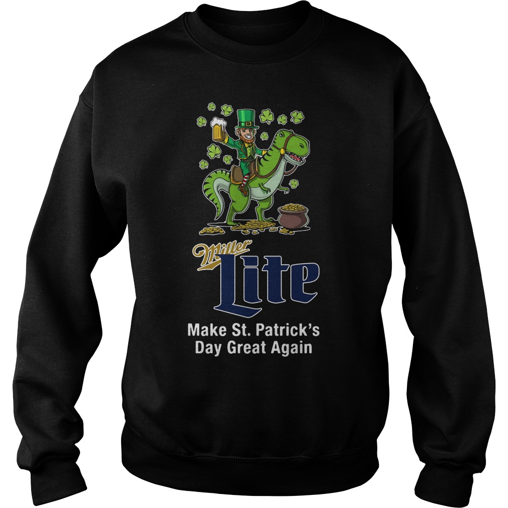 Miller Lite Make St. Patrick's Day Great Again Sweater