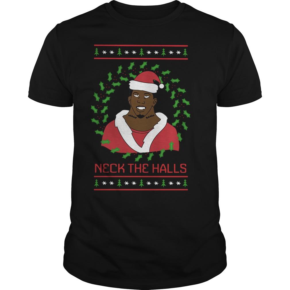 Neck The Halls Ugly Christmas Guys Shirt