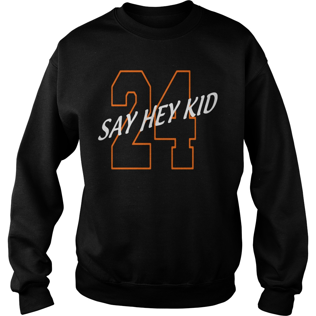24 Say Hey Kid Willie Mays Sweater
