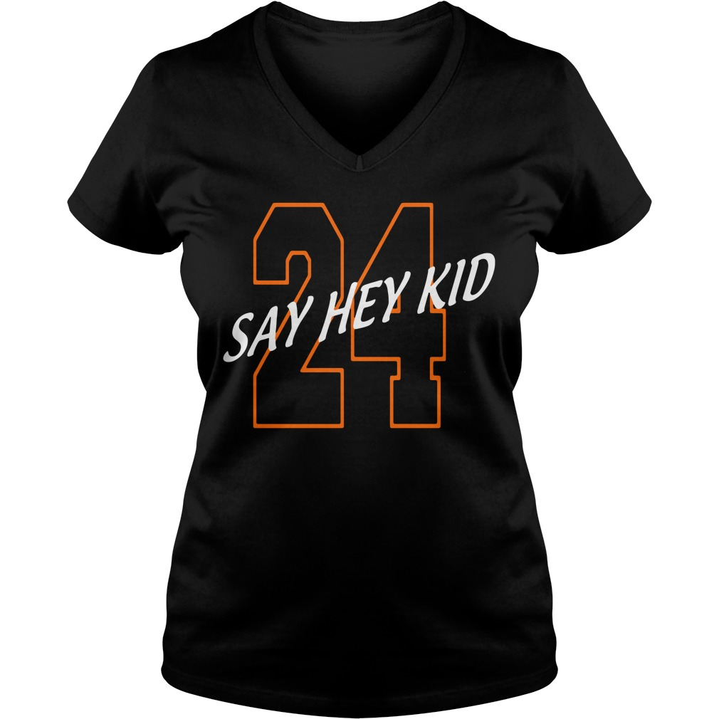 24 Say Hey Kid Willie Mays V-neck T-shirt