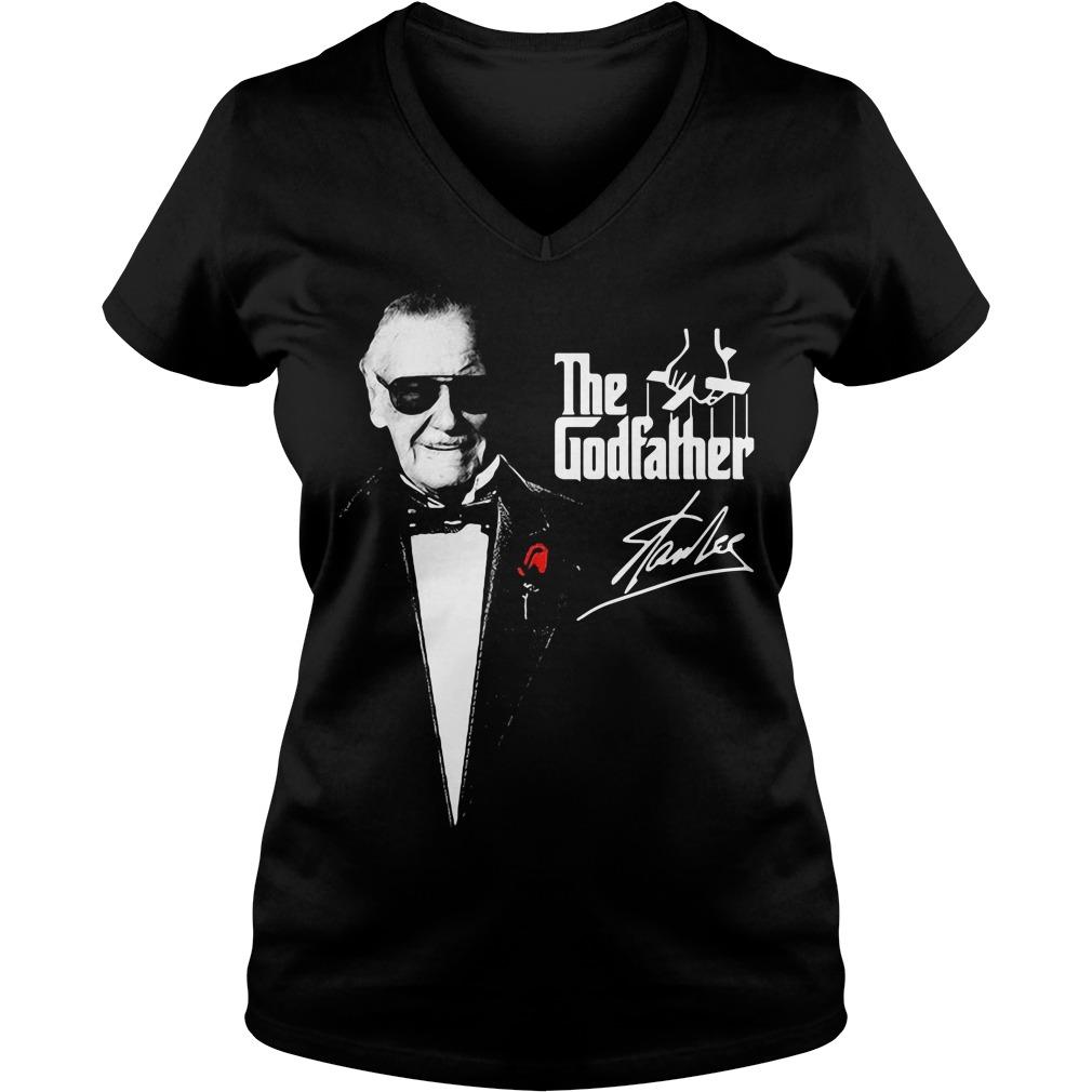 The Godfather Stan Lee V-neck T-shirt