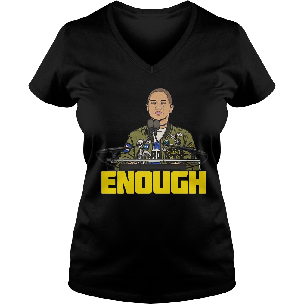Enough Emma Gonzalez V-neck T-shirt