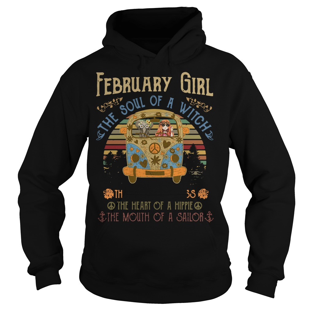 February Girl The Soul Of A Witch The Fire Of A Lioness The Heart Vintage Hoodie