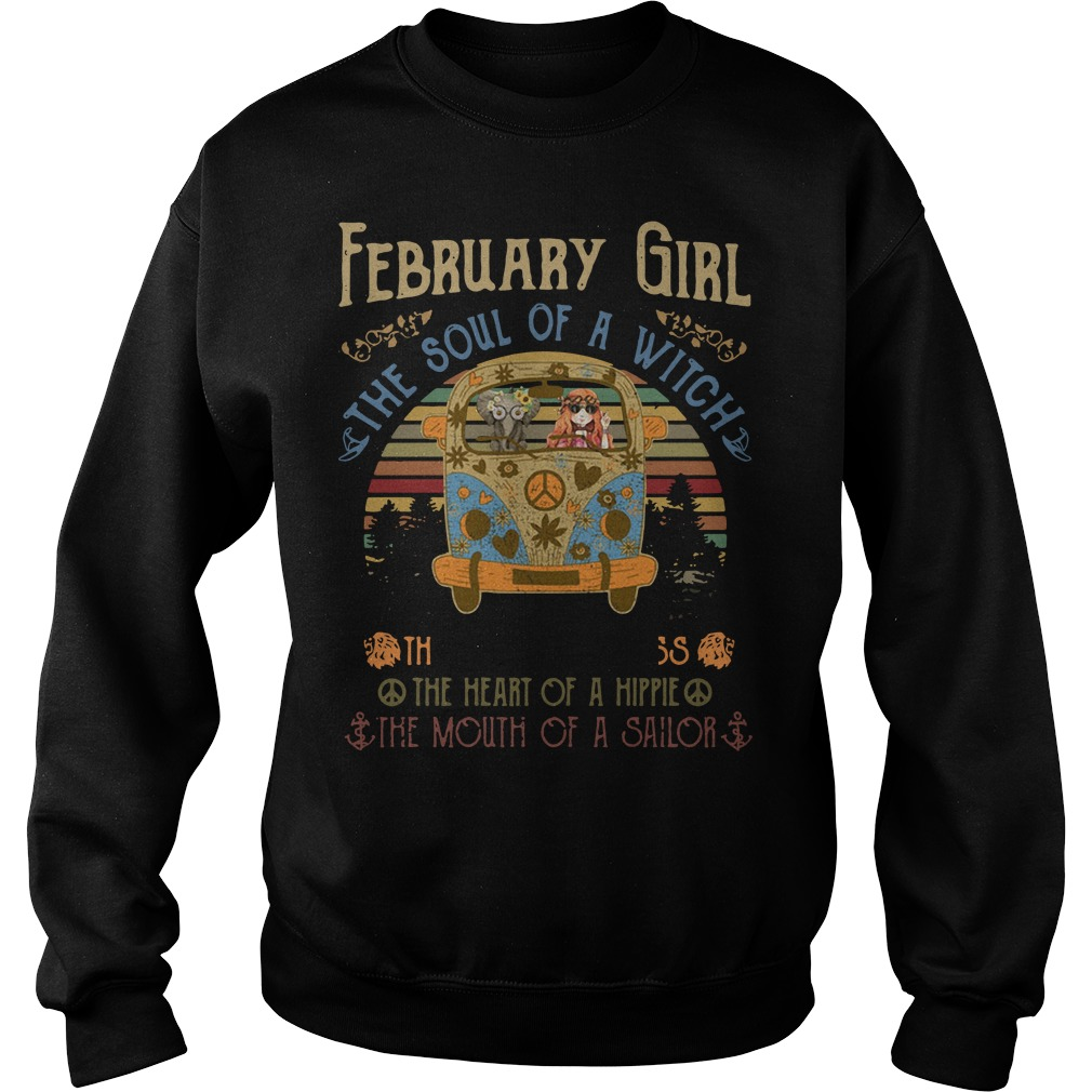 February Girl The Soul Of A Witch The Fire Of A Lioness The Heart Vintage Sweater