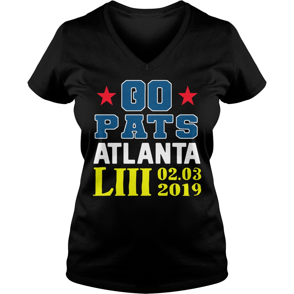 Go Pats Atlanta Liii 02 03 2019 V-neck T-shirt