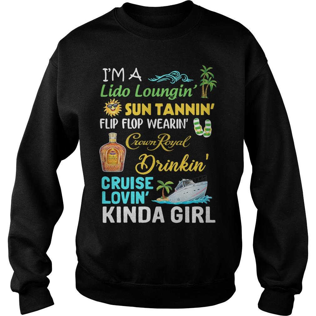 Im Lido Loungin Sun Tannin Flip Flop Wearin Crown Royal Drinkin Sweater