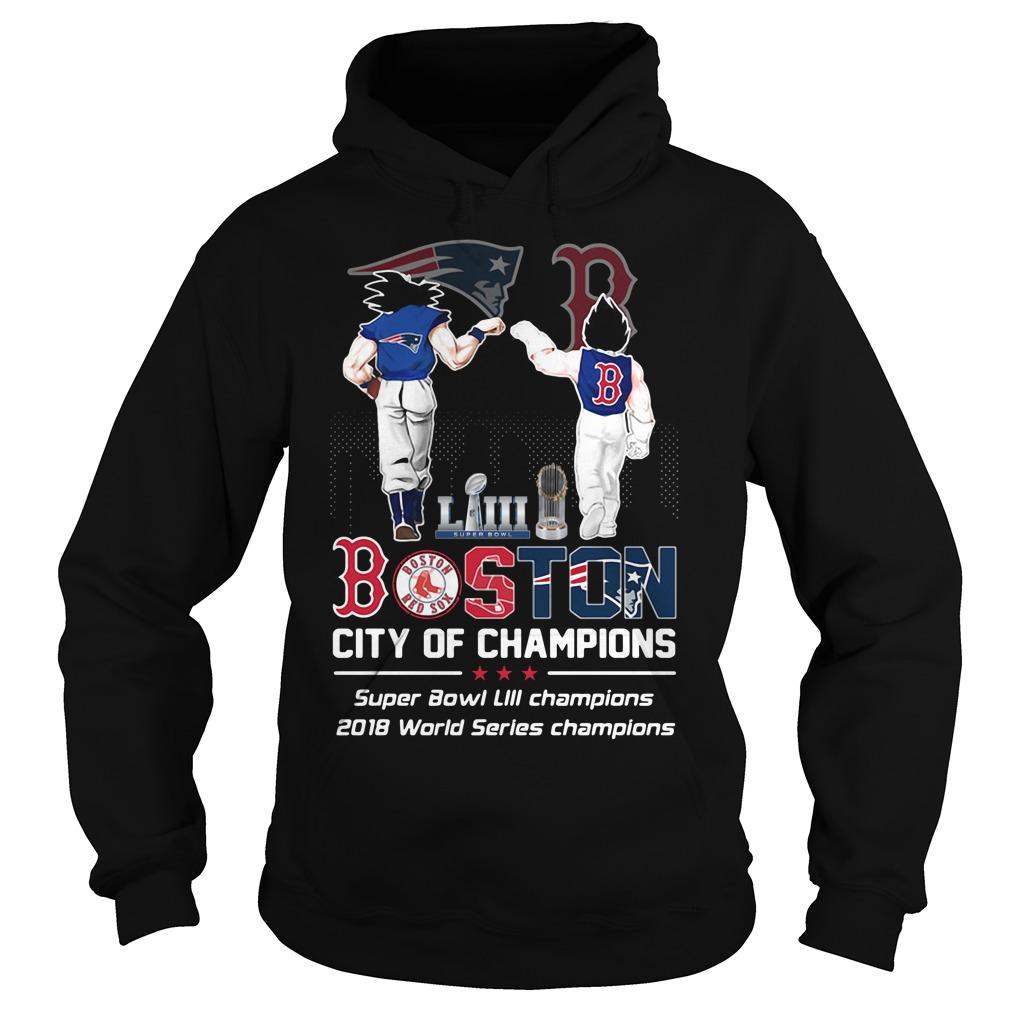 Liiii Boston City Champions Super Bowl Liii Champions 2018 World Series Champions Hoodie