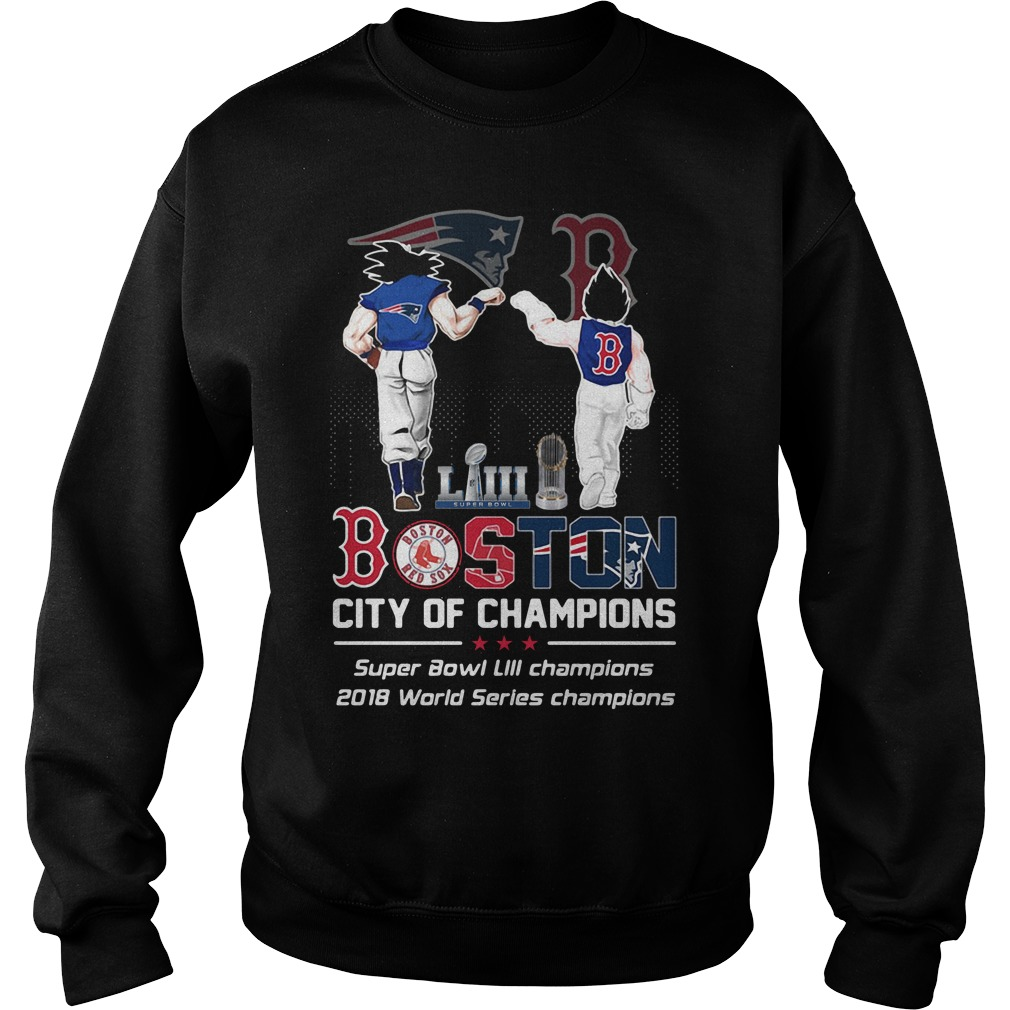 Liiii Boston City Champions Super Bowl Liii Champions 2018 World Series Champions Sweater