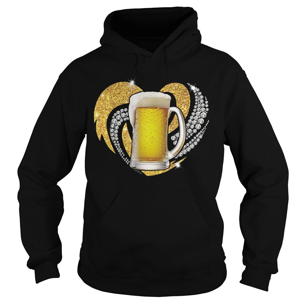 Love Beer Bling Hoodie