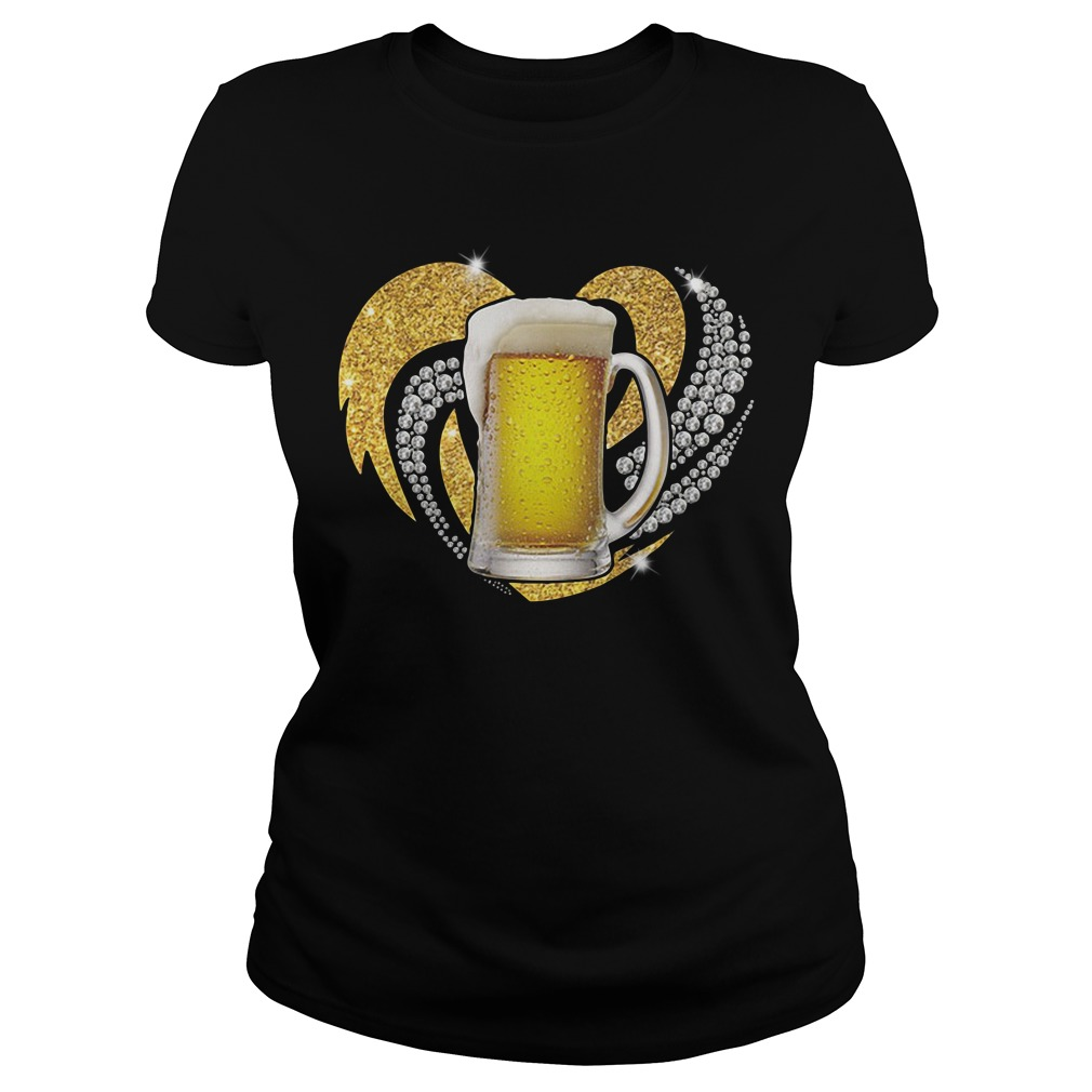 Love Beer Bling Ladies Tee