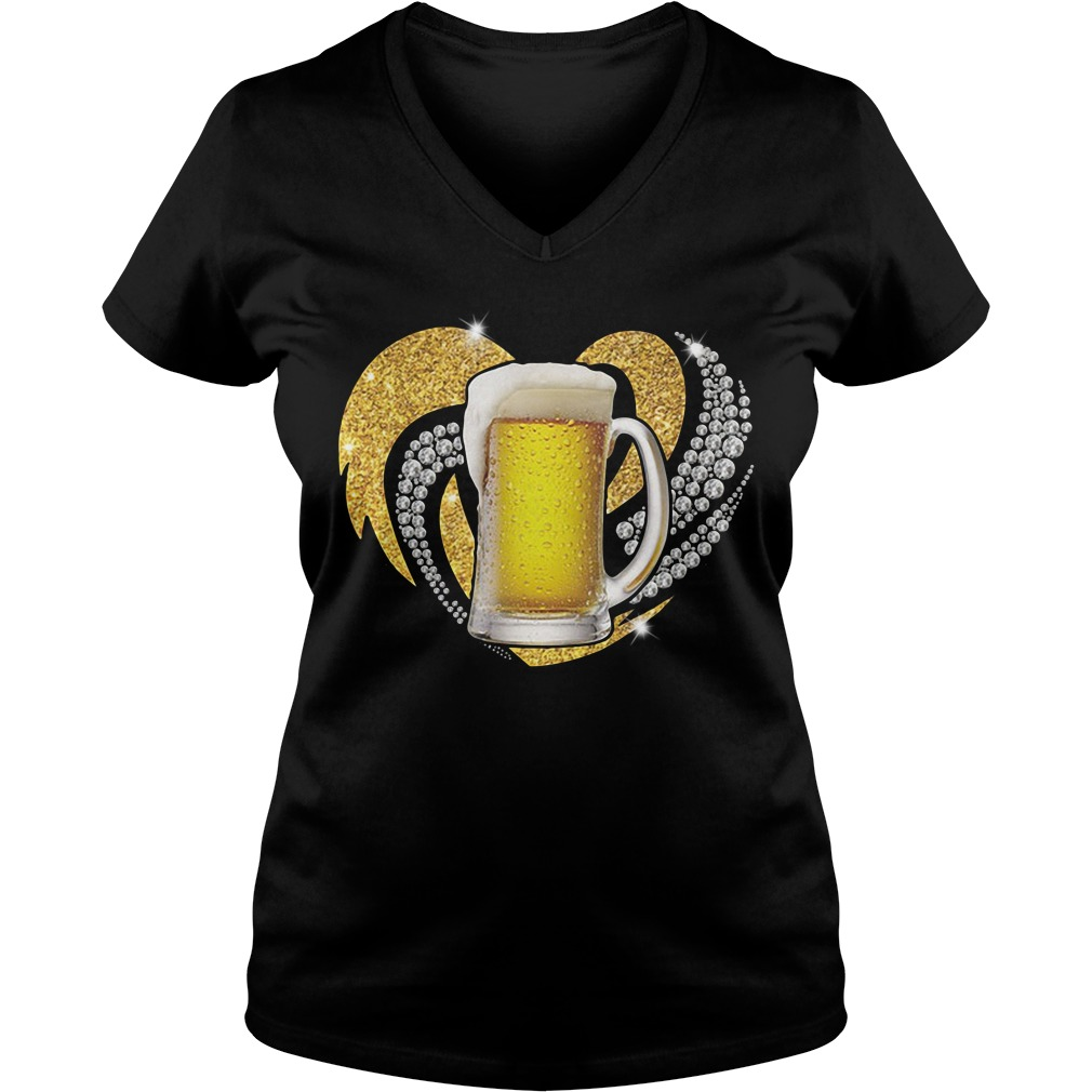 Love Beer Bling V-neck T-shirt