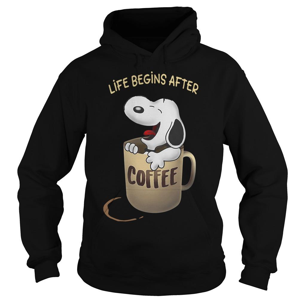 Snoopy Life Begins After Coffee Hoodie