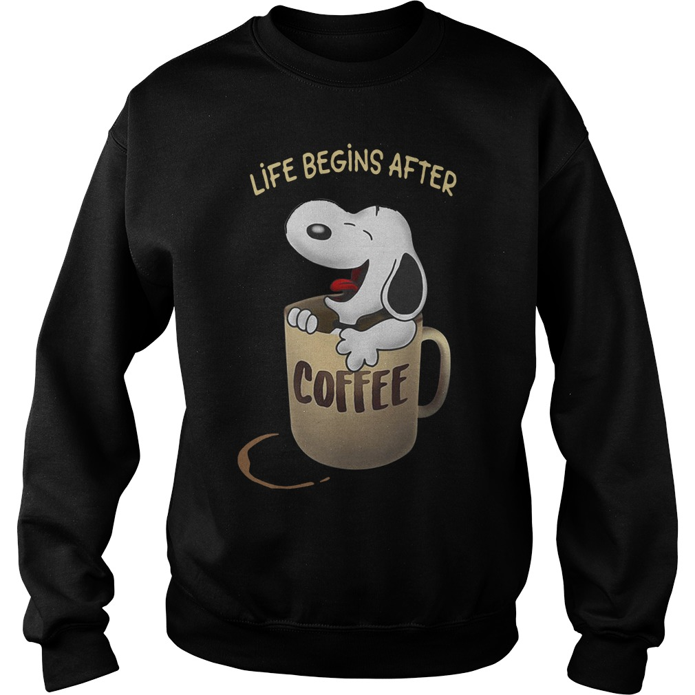 Snoopy Life Begins After Coffee Sweater