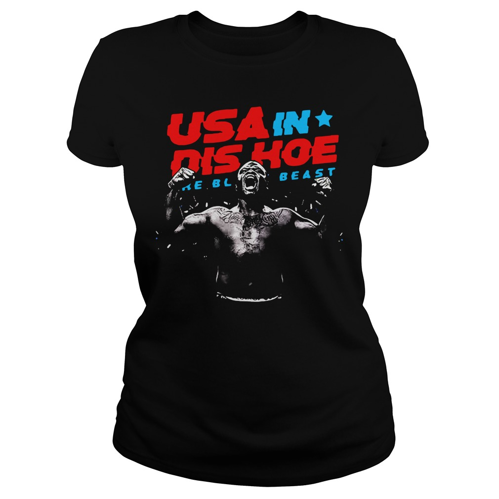 Usa In Dis Hoe Shirt The Black Beast Ladies Tee