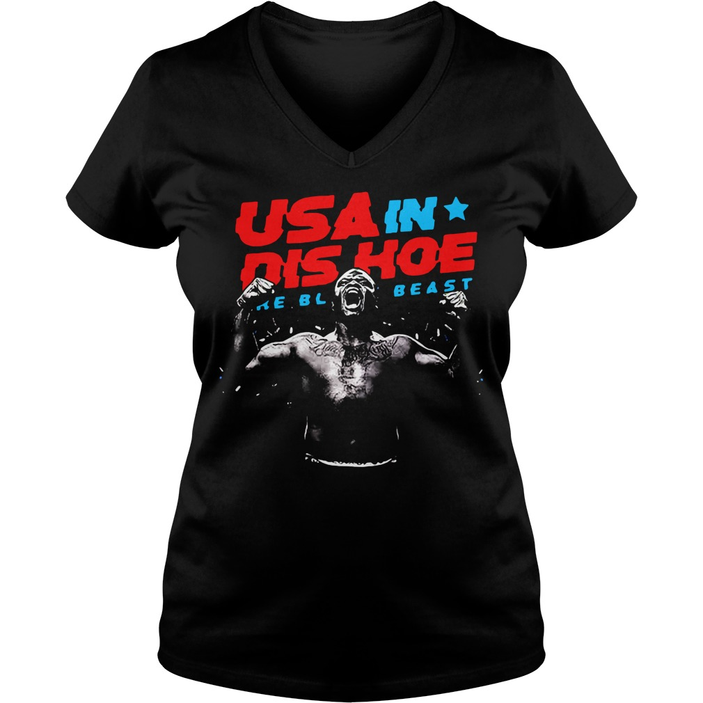Usa In Dis Hoe Shirt The Black Beast V-neck T-shirt