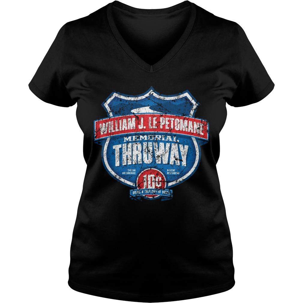 William J. Le Petomane Memorial Thruway V-neck T-shirt
