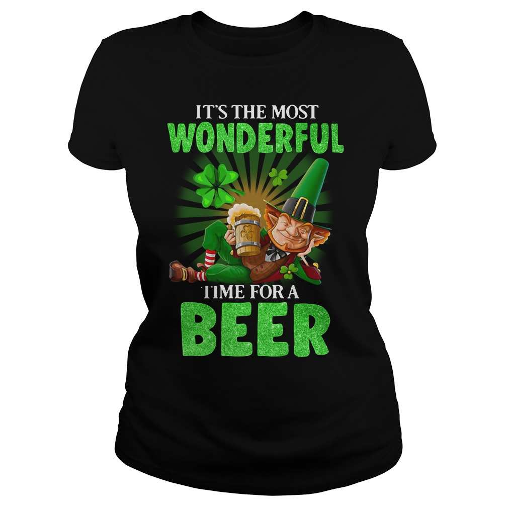It's The Most Wonderful Time For A Beer St. Patrick's Day Ladies Tee