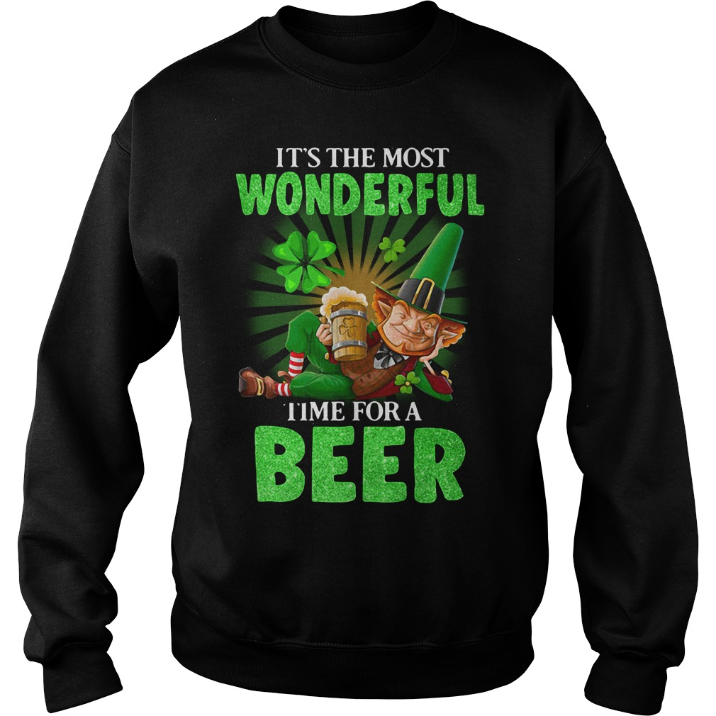 It's The Most Wonderful Time For A Beer St. Patrick's Day Sweater