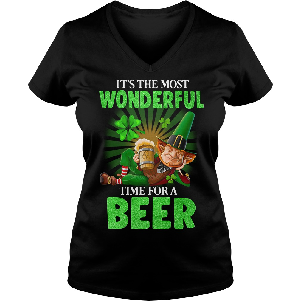 It's The Most Wonderful Time For A Beer St. Patrick's Day V-neck T-shirt
