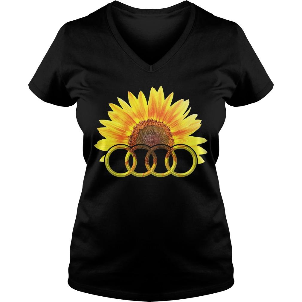 Audi Sunflower V-neck t-shirt