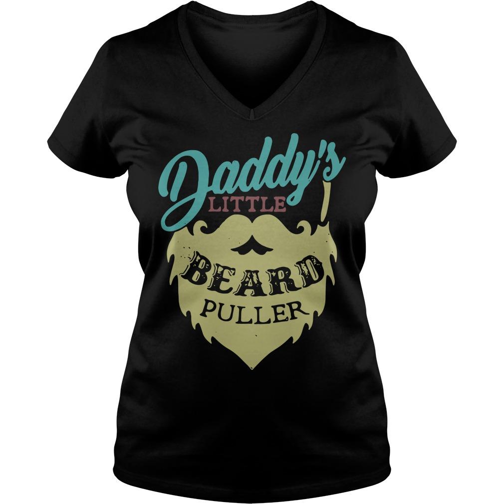 Daddy's Little Beard Puller V-neck T-shirt
