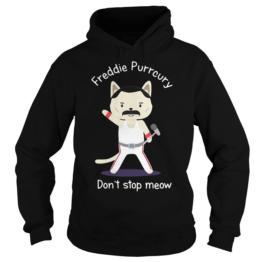 Freddie Purrcury Don't Stop Meow Hoodie