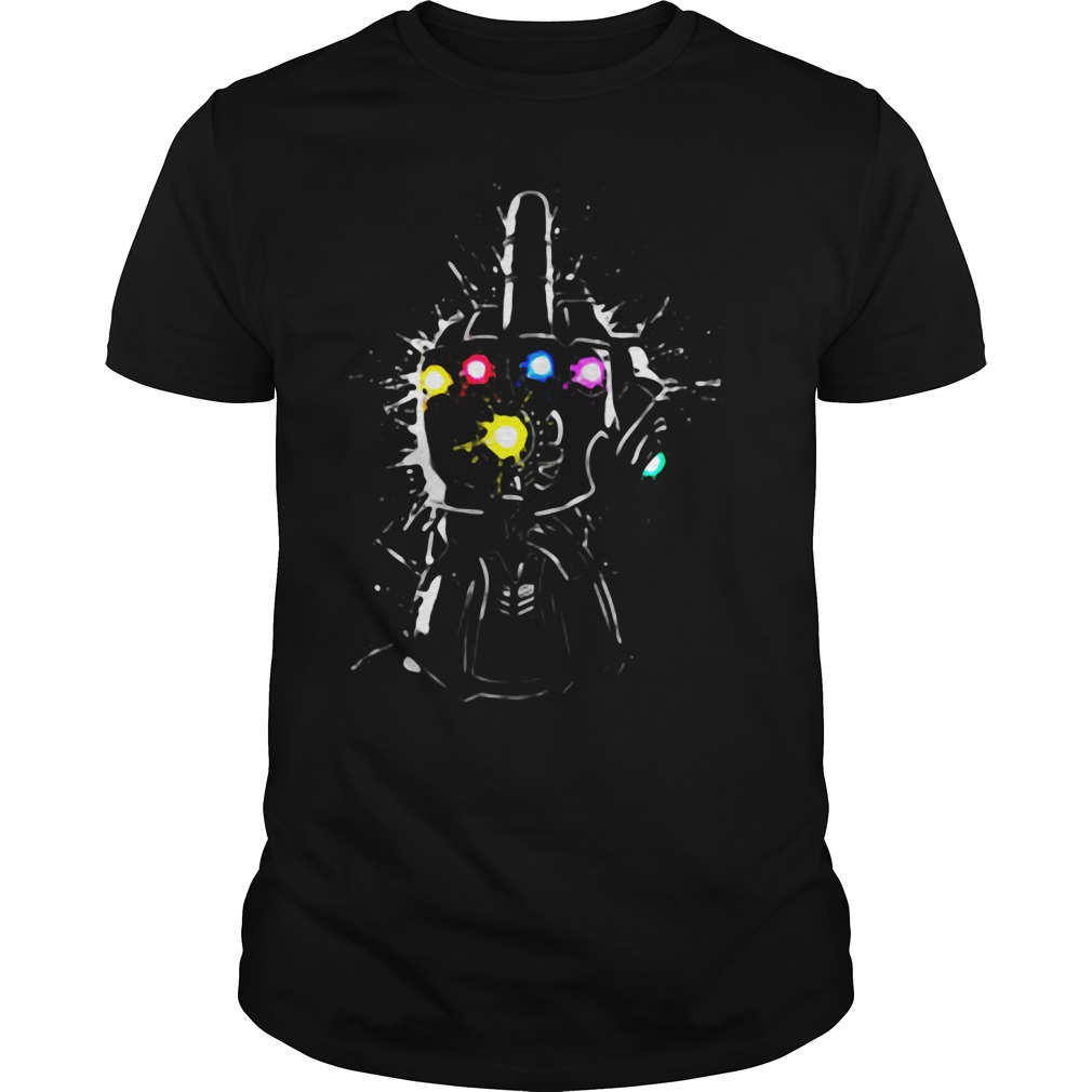 Fuck Thanos Gauntlet Avengers Endgame Guys Shirt