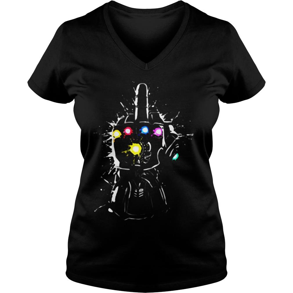 Fuck Thanos Gauntlet Avengers Endgame V-neck t-shirt