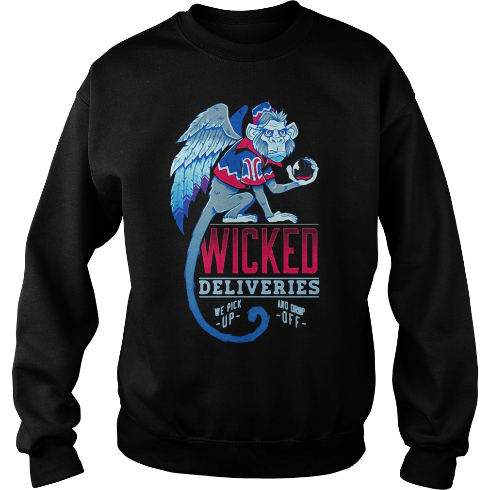 Monkey Wicked Deliveries We Pick Up And Drop Off Sweater