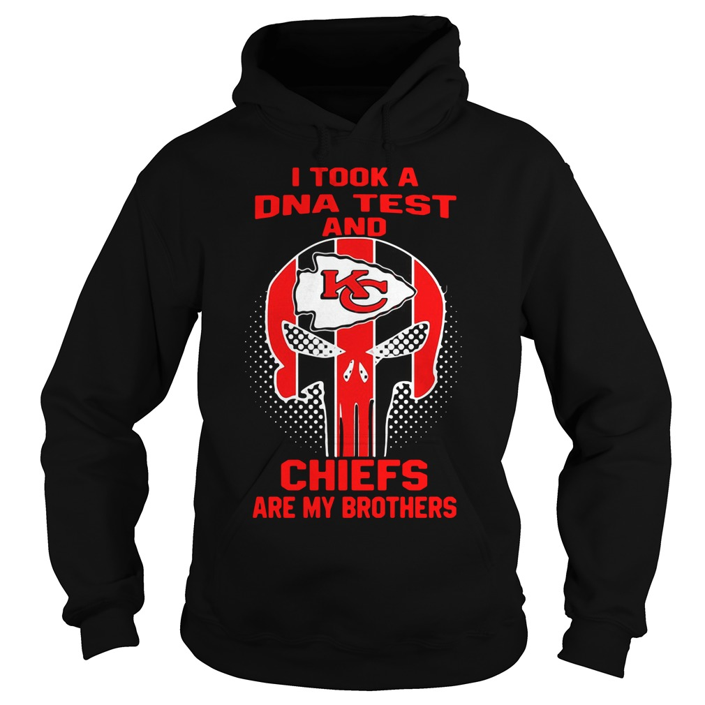 Skull I Took A Dna Test And Kansas City Chiefs Are My Brothers Hoodie