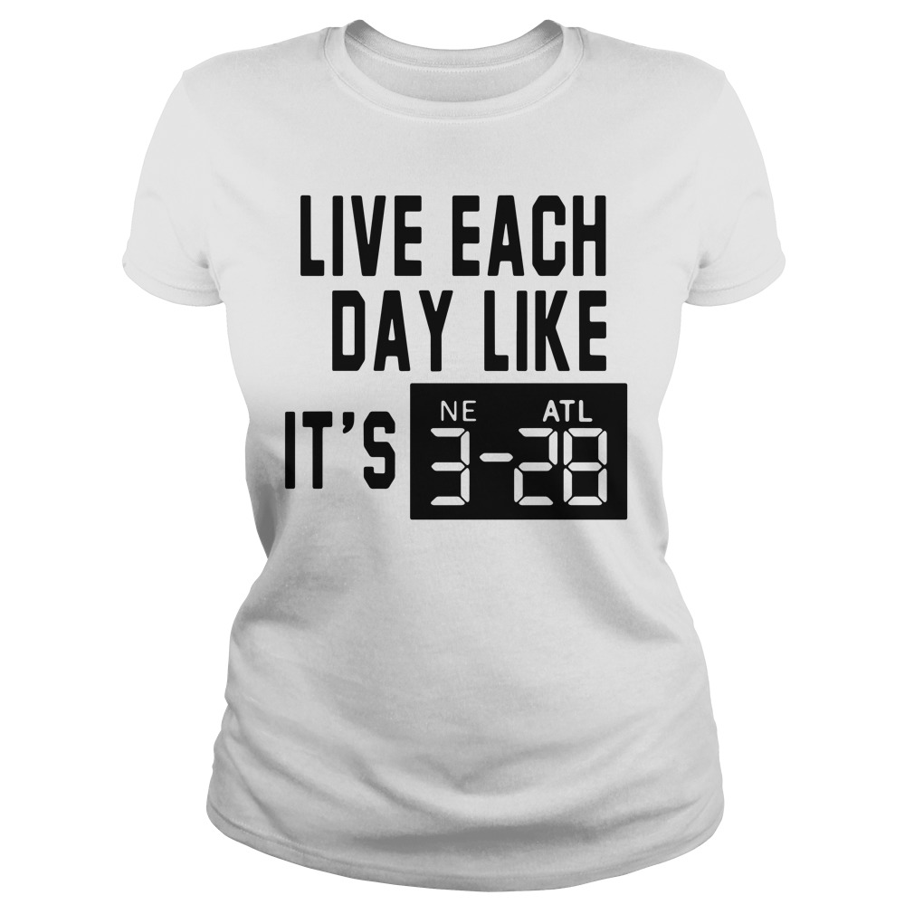 Adrian Clayborn Live Each Day Like It's 3 28 Ladies Tee