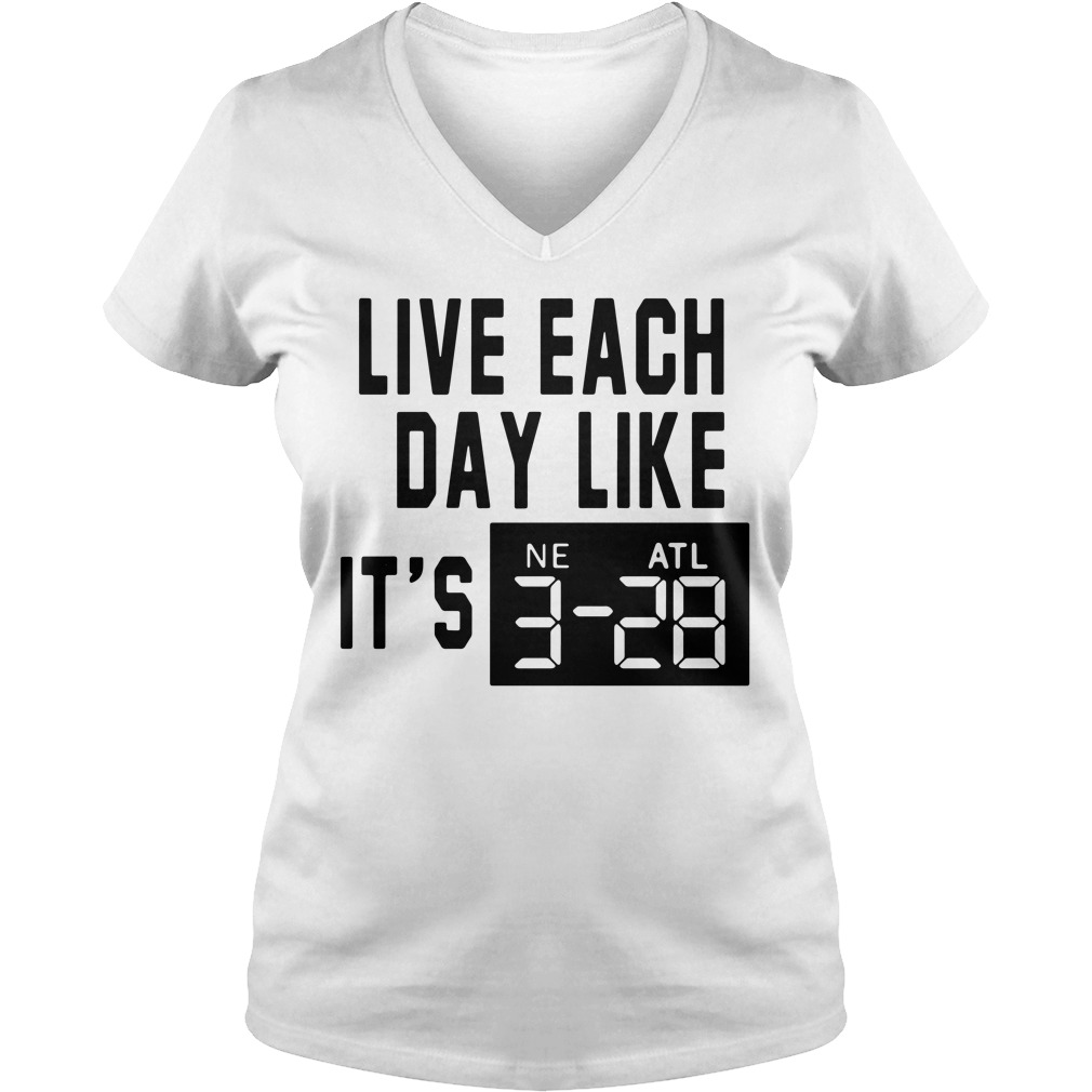 Adrian Clayborn Live Each Day Like It's 3 28 V-neck T-shirt