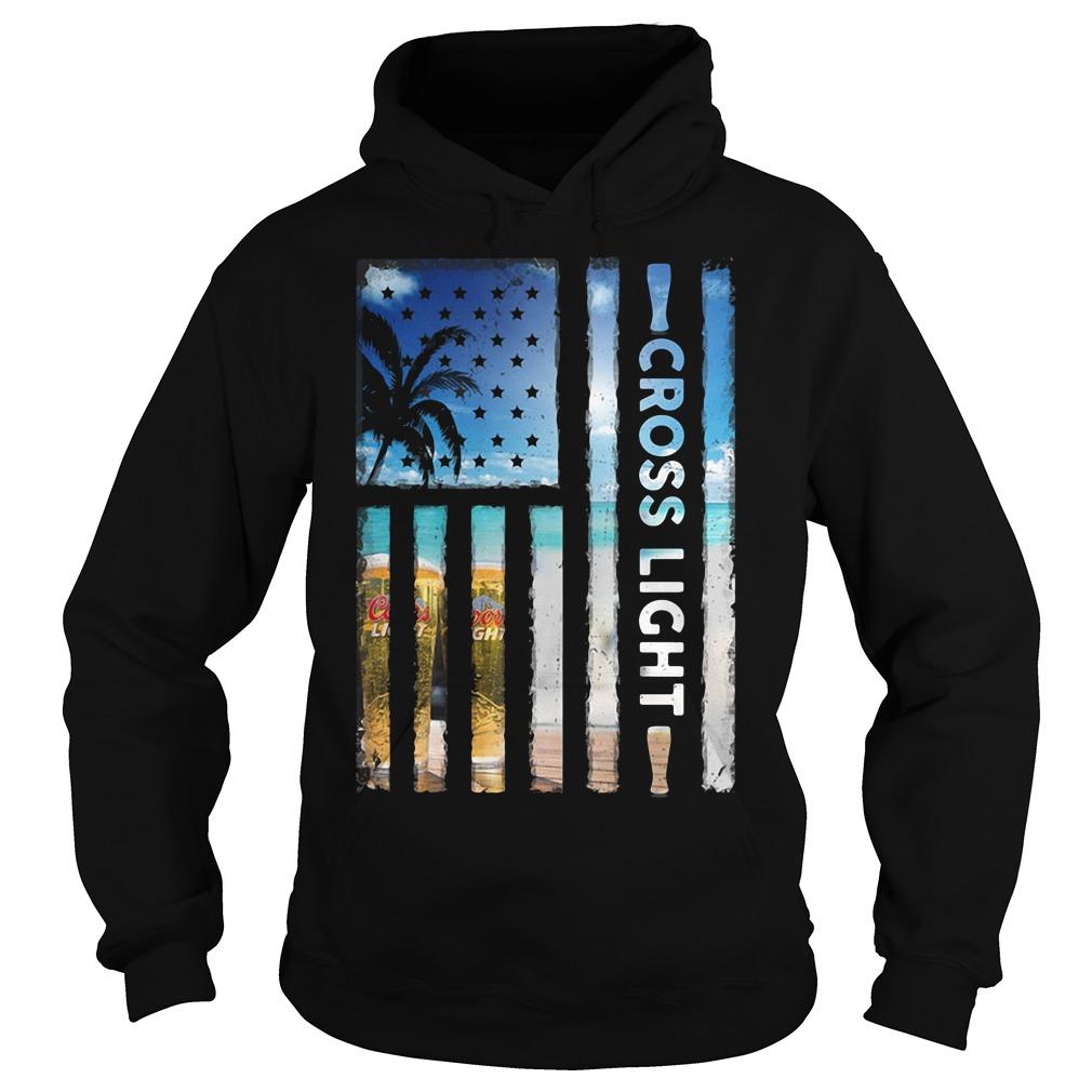 America Flag Cross Light Sunshine Hoodie