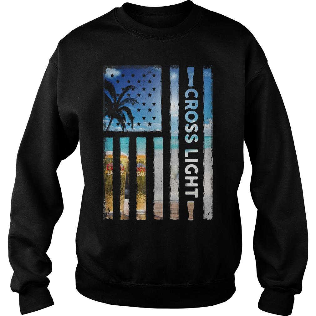 America Flag Cross Light Sunshine Sweater
