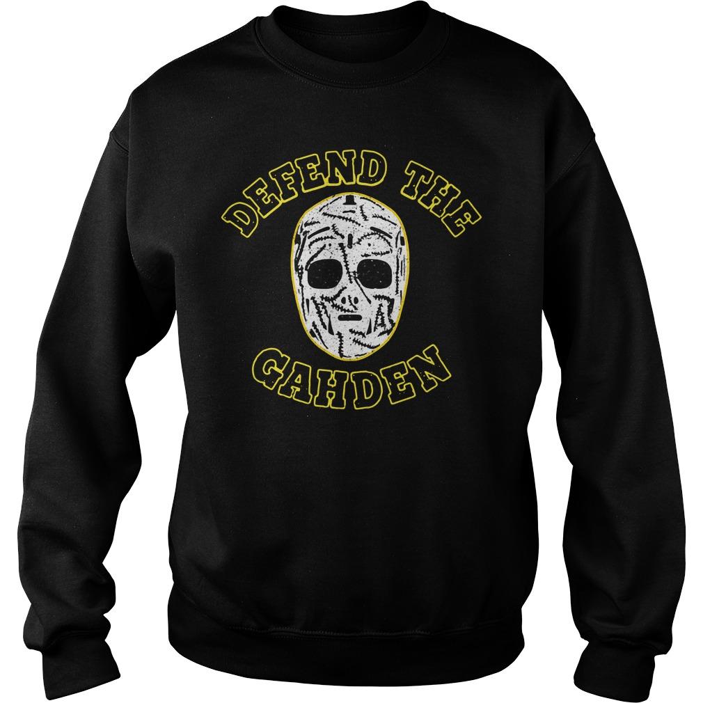 Defend The Gahden Goalie Mask Sweater