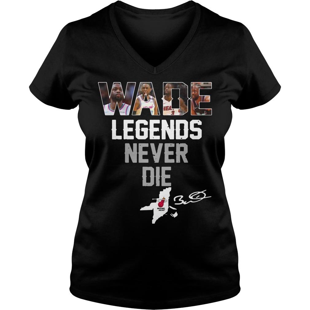 Dwyane Wade Legends Never Die V-neck T-shirt