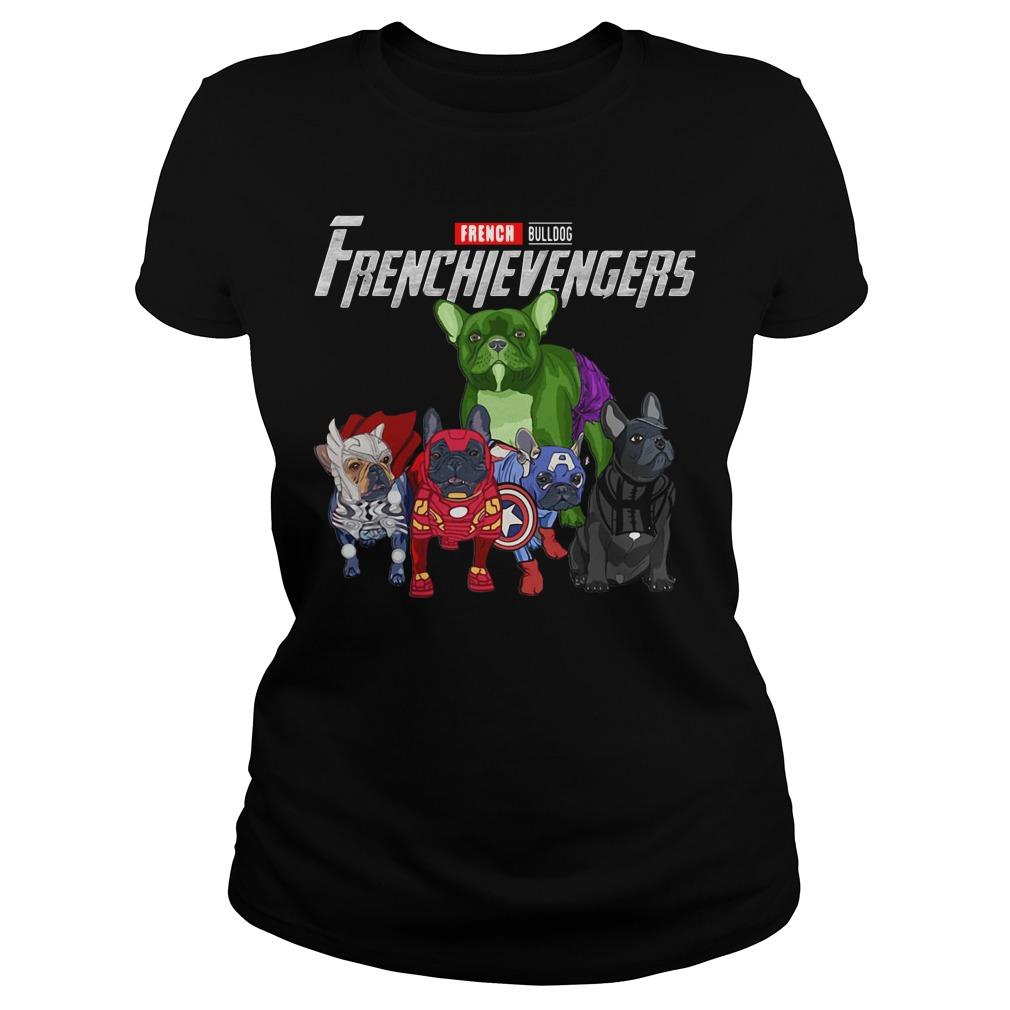 French Bulldog Frenchie Avengers Frenchievengers Ladies Tee