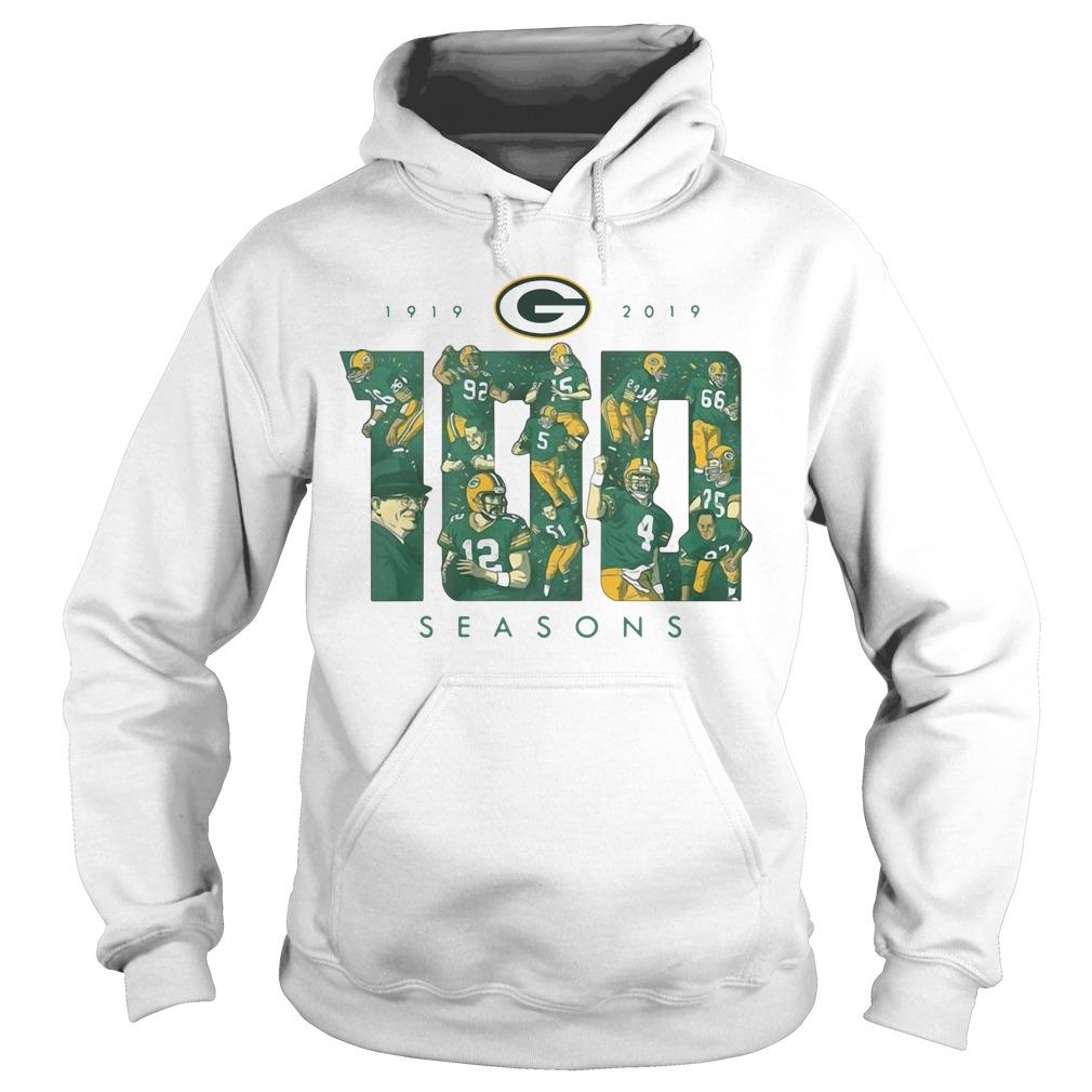 Green Bay Packers 100 Season 1919 2019 Hoodie