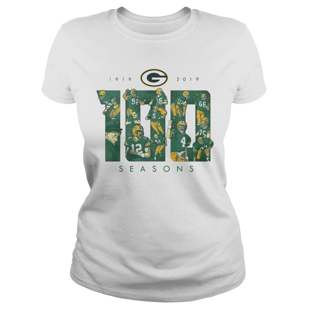 Green Bay Packers 100 Season 1919 2019 Ladies tee