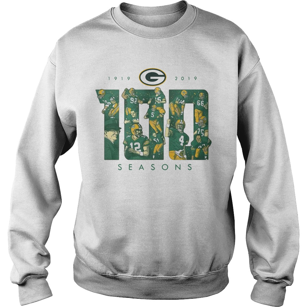 Green Bay Packers 100 Season 1919 2019 Sweater