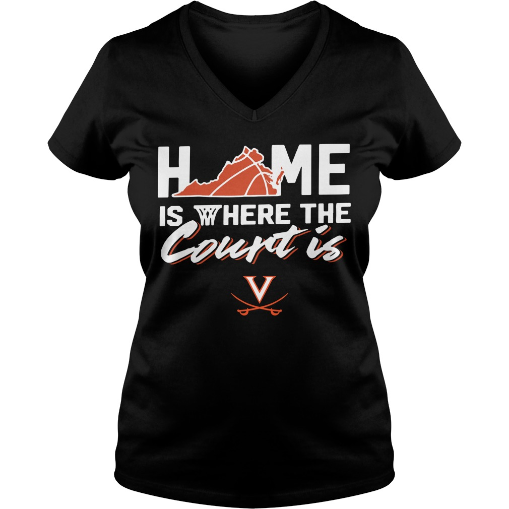 Home Is Where The Court Is Virginia Cavaliers V-neck T-shirt