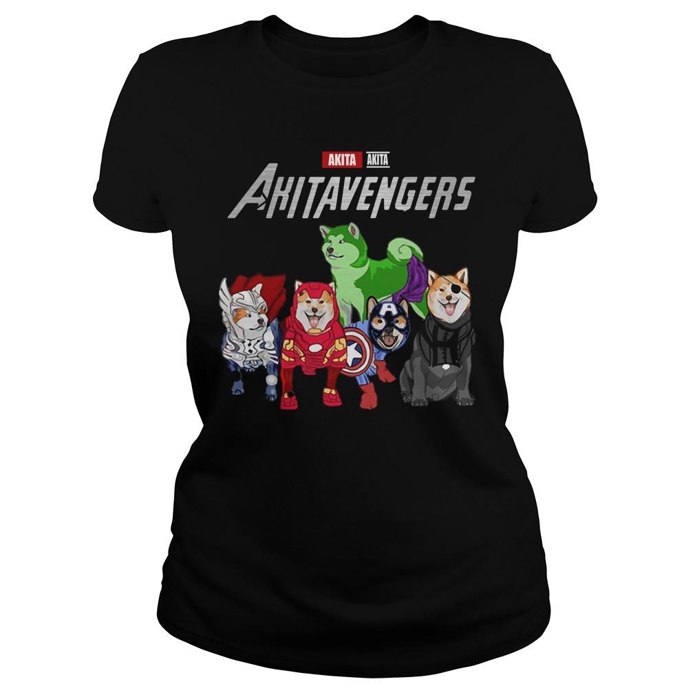 Marvel Avengers Akita Akitavengers Ladies Tee