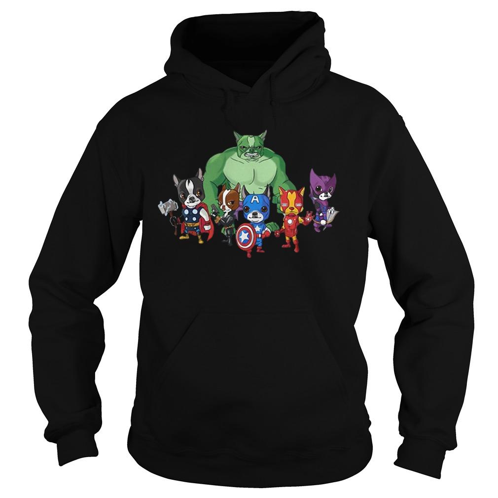 Marvel Avengers Boston Terriervengers Hoodie