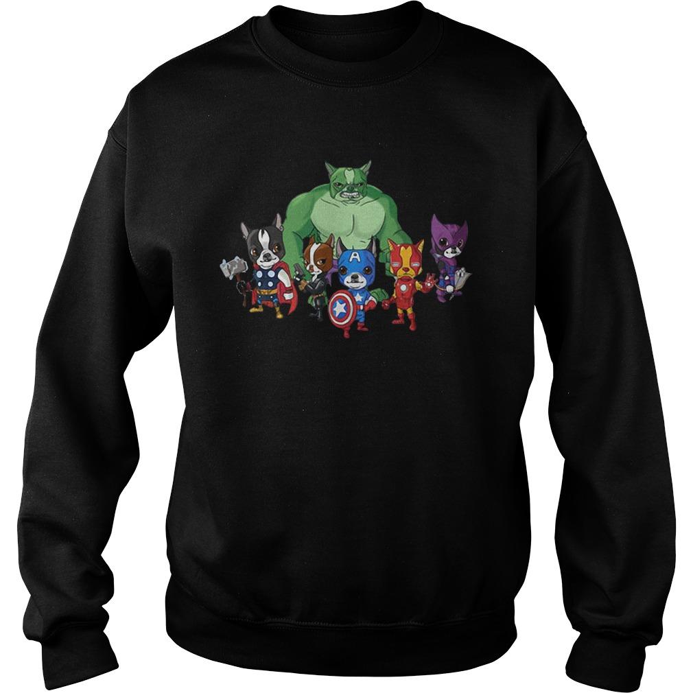 Marvel Avengers Boston Terriervengers Sweater