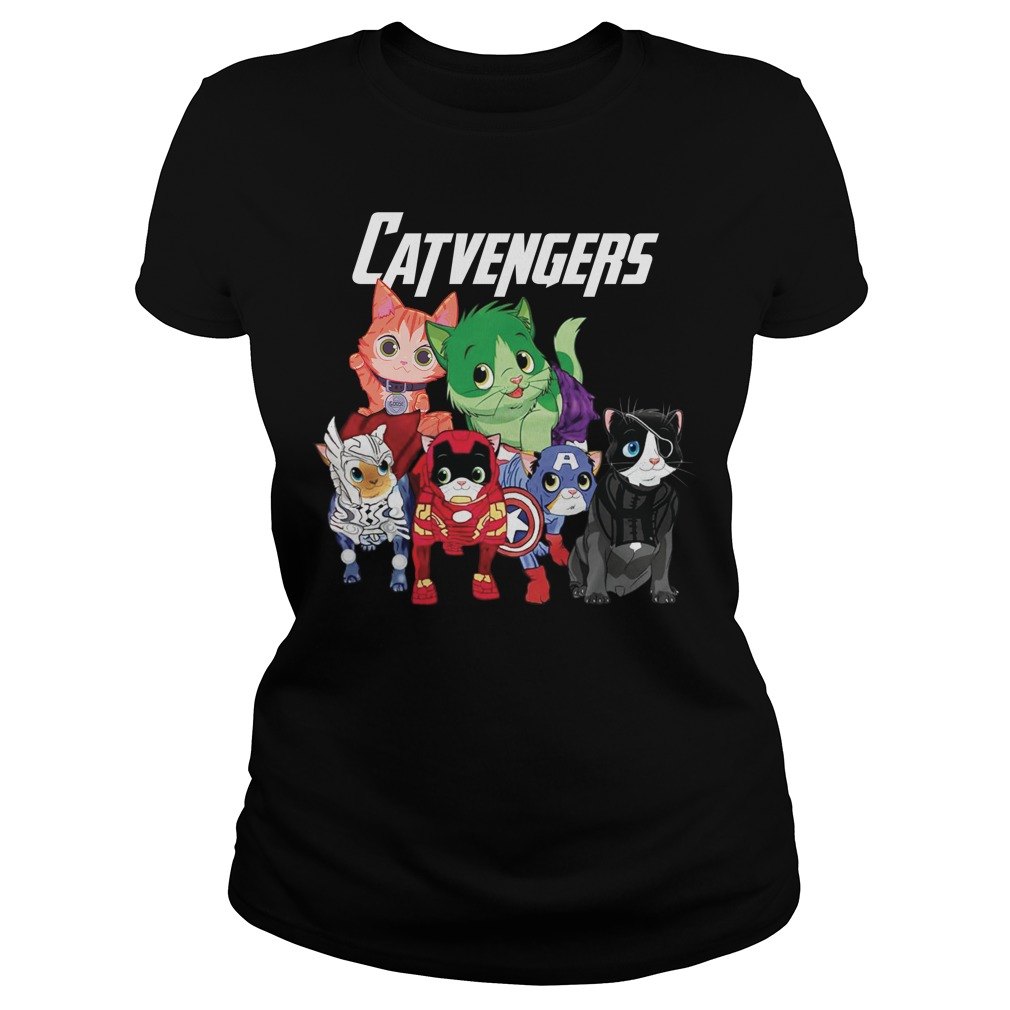 Marvel Avengers Cat Beauty Ladies Tee