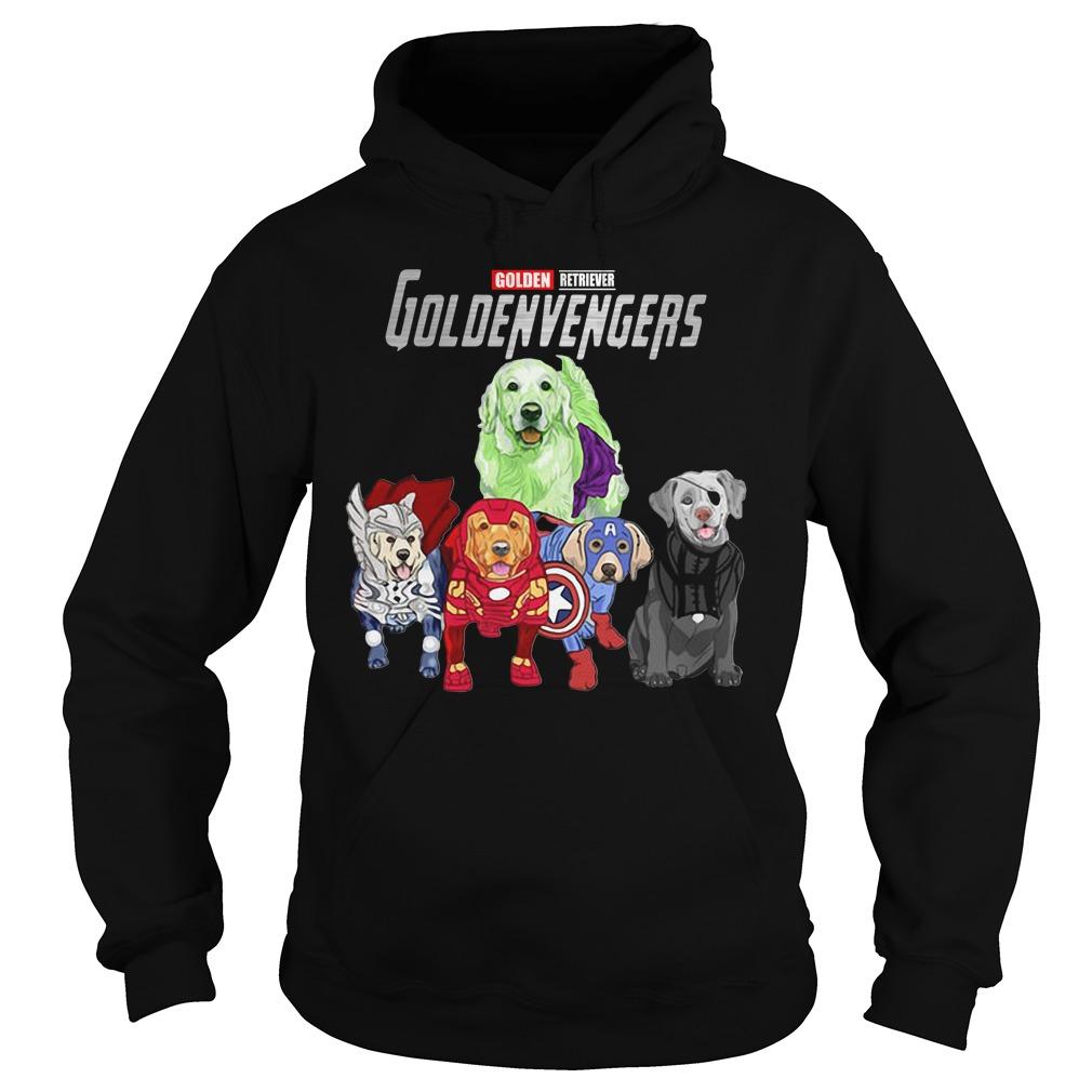 Marvel Avengers Golden Retriever Goldenvengers Hoodie