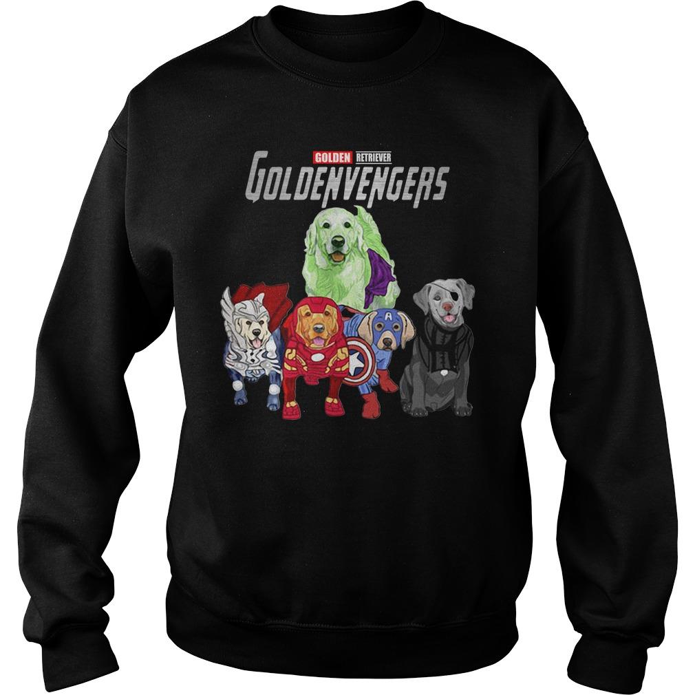 Marvel Avengers Golden Retriever Goldenvengers Sweater