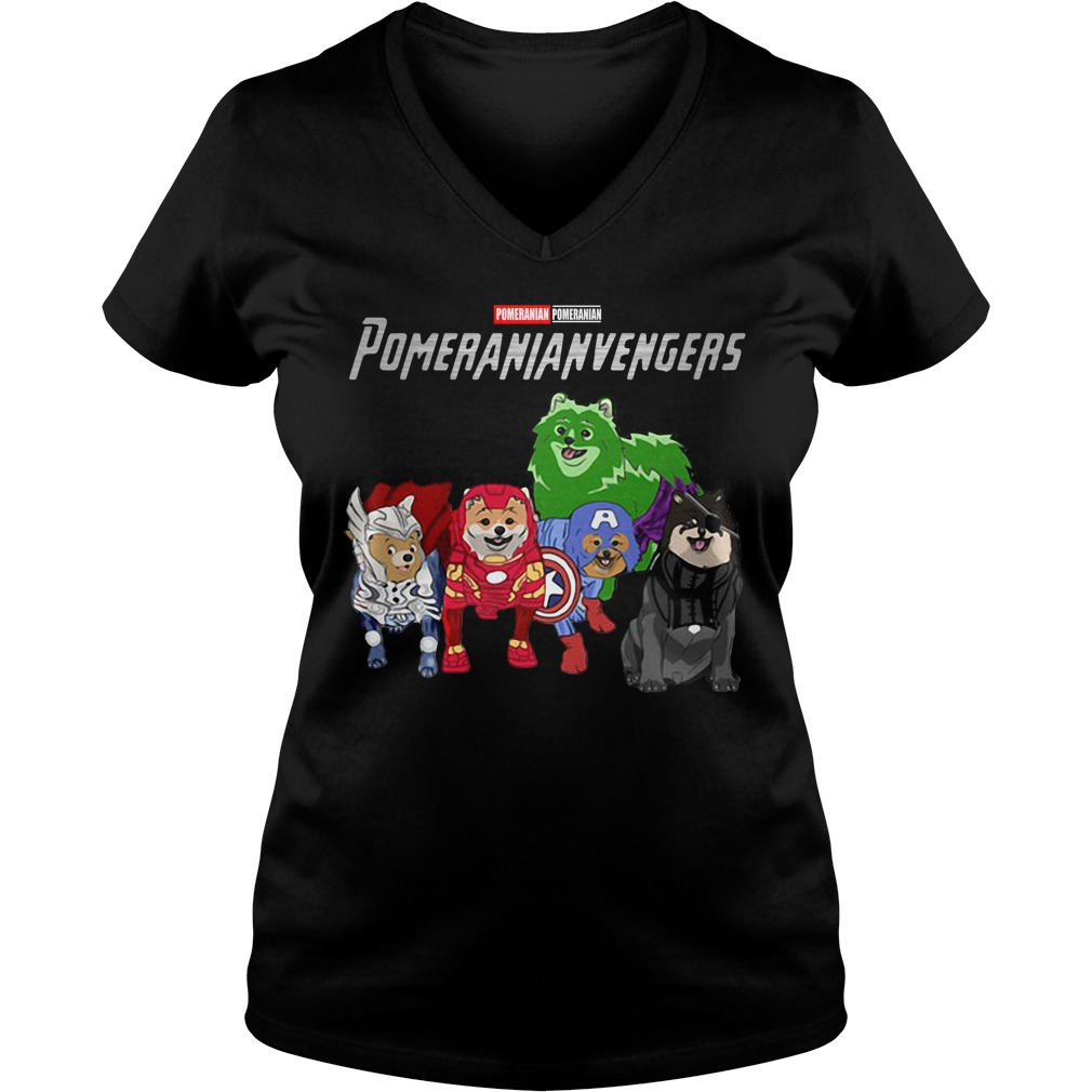 Marvel Avengers Pomeranian Pomeranianvengers V-neck T-shirt